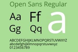 网站常用的Web Font 免费开源字体Open Sans 全系列 可商用