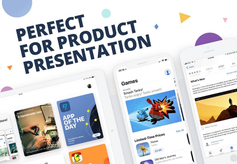 移动设备UI展示iphone、ipad样机展示app截图素材