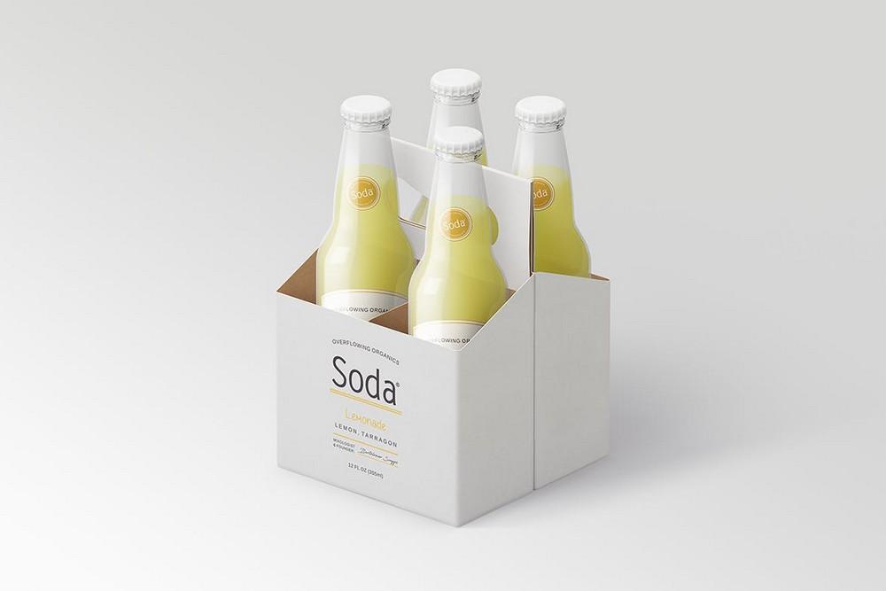 汽水瓶效果图样机啤酒瓶苏打水包装样机玻璃瓶psd素材