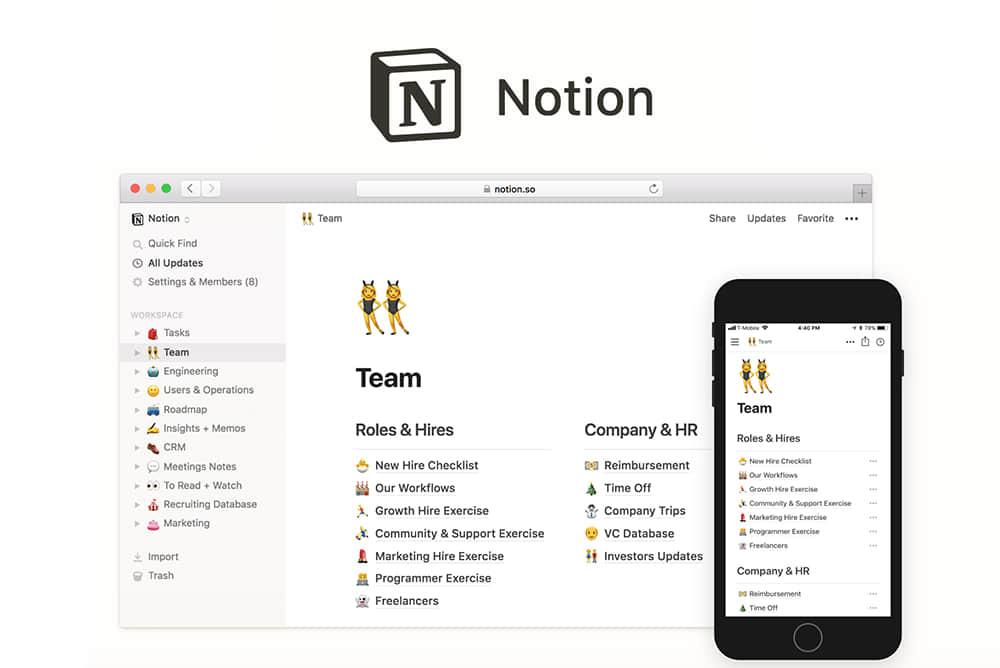 超好用的笔记协作工具Notion For Mac 2.0.7