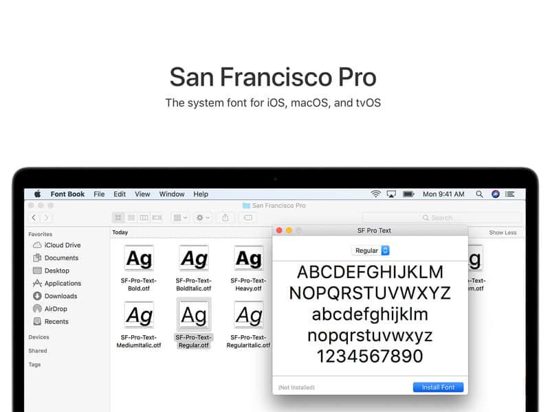 San Francisco Pro苹果平台字体SF PRO Text