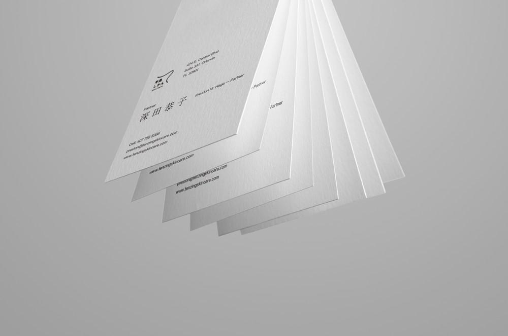 极简名片设计效果图日系高档名片设计贴图细腻质感样机素材