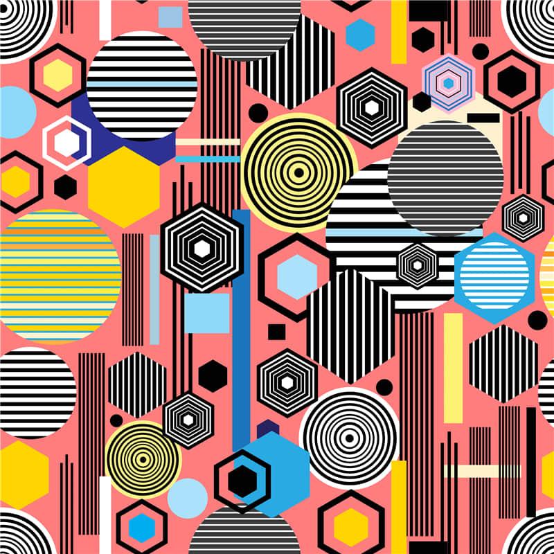 几何抽象图案艺术背景ai矢量无缝纹理背景图