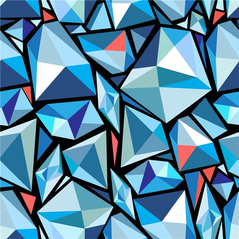 几何抽象图案钻石背景无缝纹理ai矢量素材