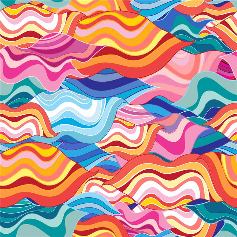 几何艺术背景ai矢量素材抽象图案无缝纹理