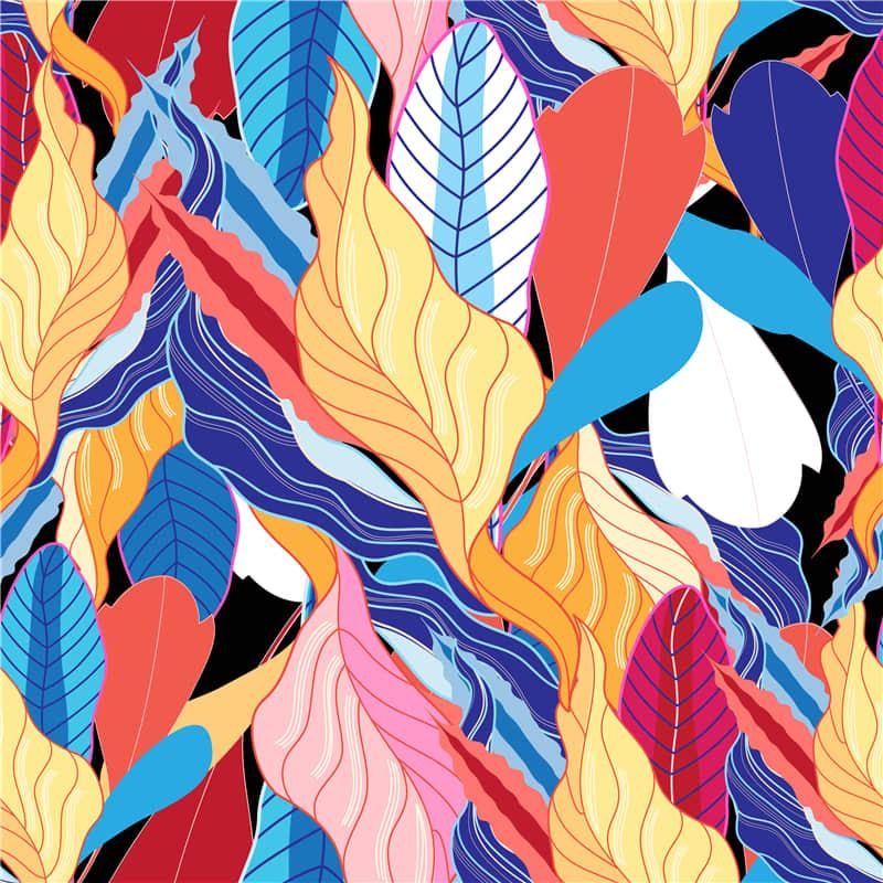 植物抽象艺术背景无缝纹理ai矢量背景图