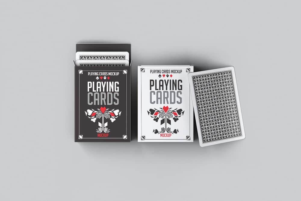 扑克牌样机纸牌桥牌效果图mockups模版PSD设计素材