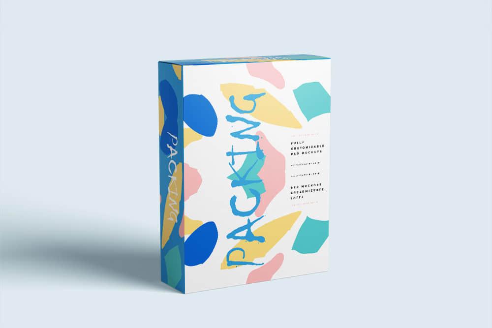 包装智能贴图礼物包装纸盒样机素材模板时尚礼盒效果图psd设计