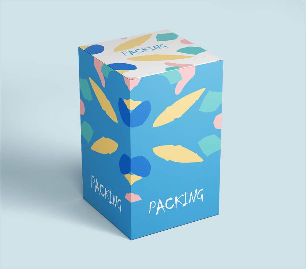 时尚礼盒礼物包装纸盒样机智能贴图效果展示贴图psd设计素材模板