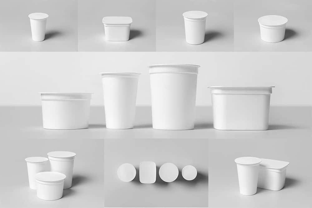 酸奶包装效果图酸奶品牌vi设计展示智能贴图塑料杯样机模版PSD设计素材