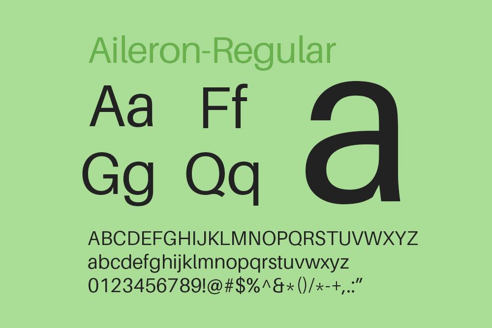 英文字体Aileron字体免费下载aileron全系列字体15种字重