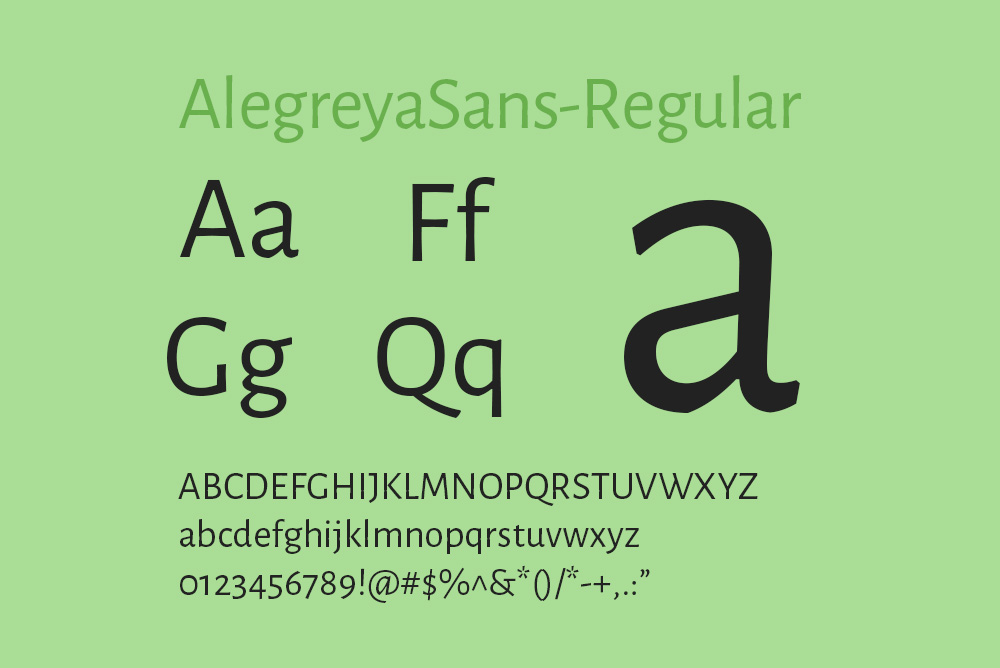 英文字体Alegreya-sans字体免费下载alegreyasans全系列字体下载