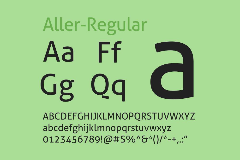 英文字体Aller字体免费下载aller全系列字体7种字重