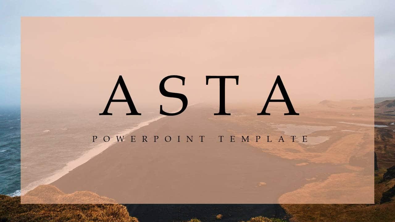 欧美幻灯片模板ASTA时尚简洁风格PPT版式设计