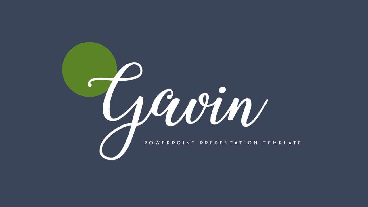 欧美幻灯片模板Gavin简洁风格时尚PPT版式设计