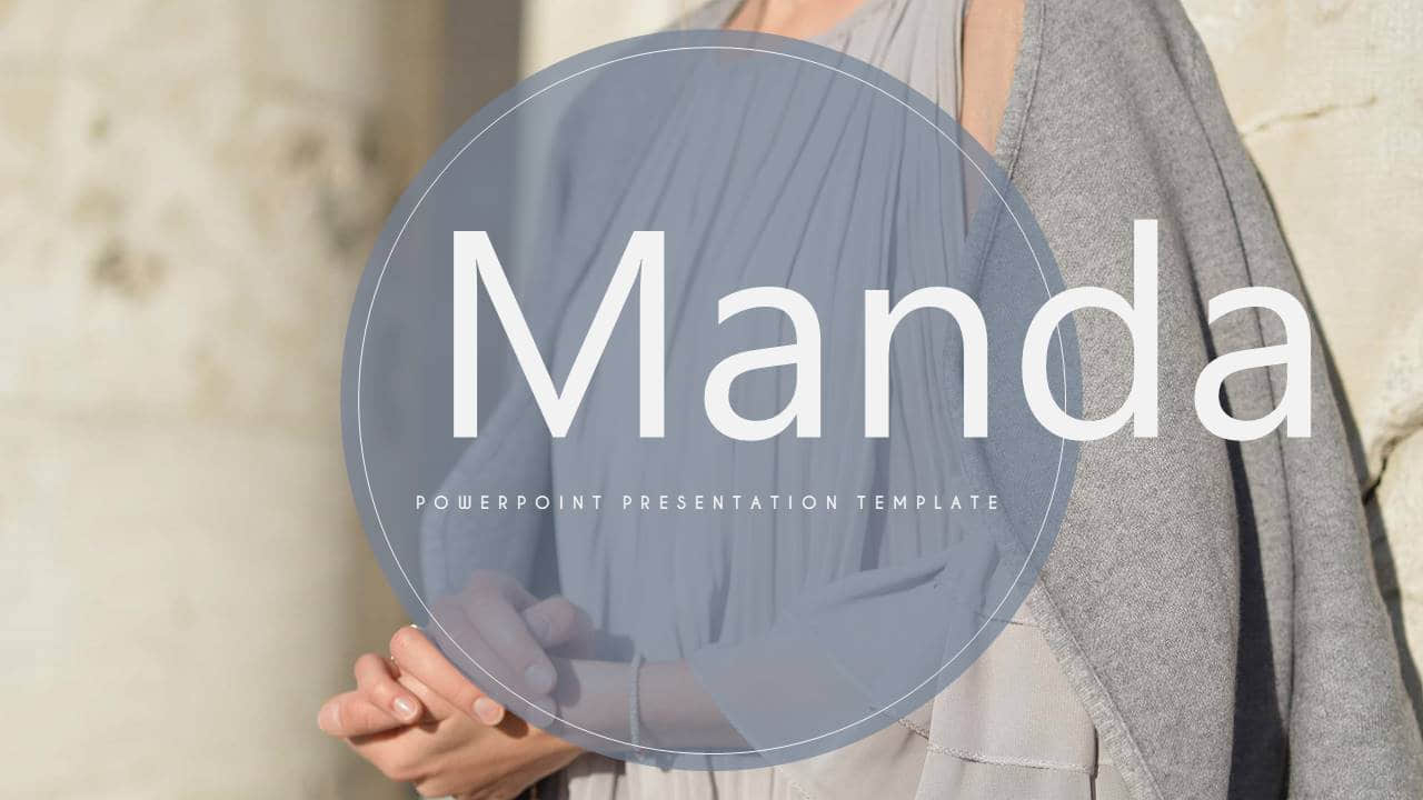 时尚类幻灯片模板Manda简洁大气风格PPT版式设计
