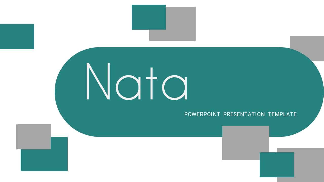 欧美风格幻灯片模板Nata简洁时尚PPT版式设计