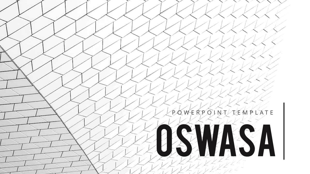 大气幻灯片模板OSWASA欧美简洁风格版式设计