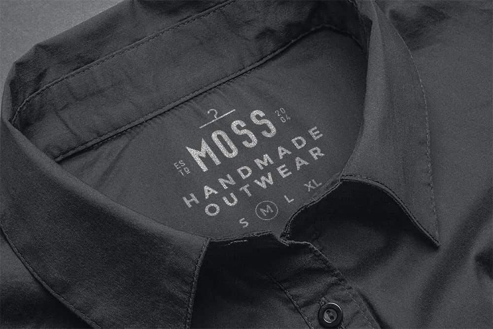 logo展示psd样机黑色衬衫