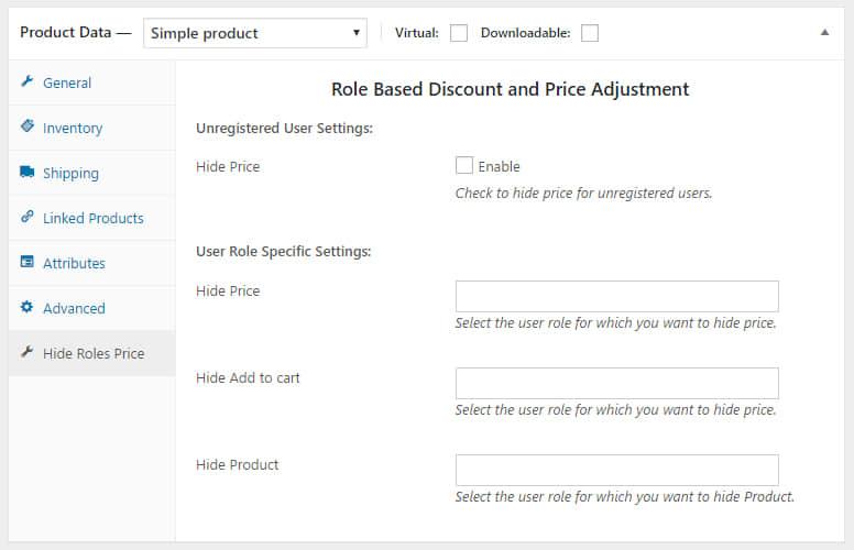 根据登录用户角色动态定价插件Woocommerce Dynamic Pricing By User Role v1.4
