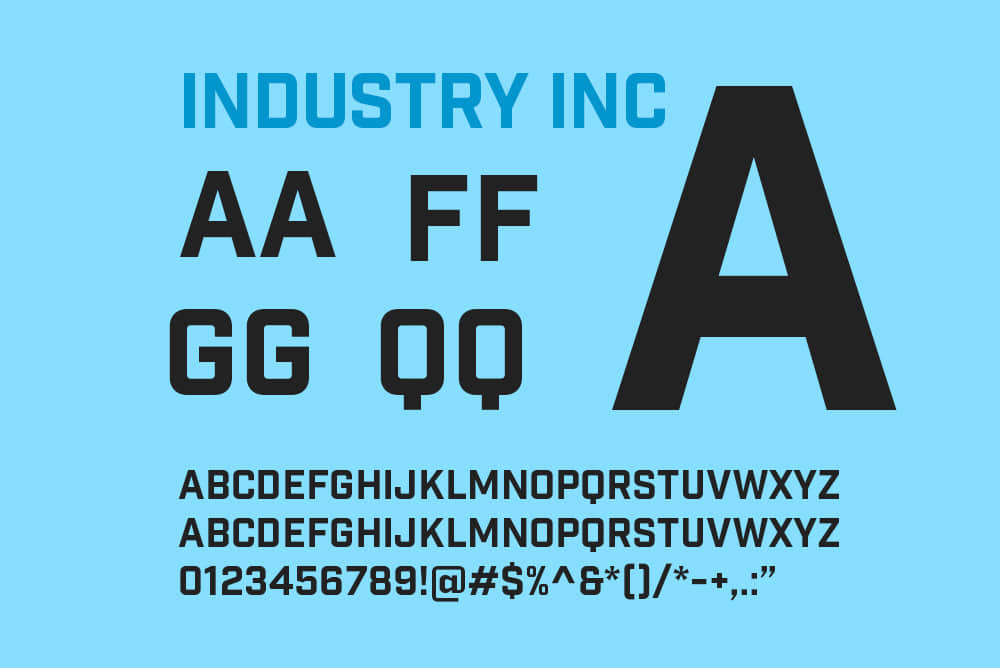 Hold Fast Foundry – Industry Inc Base英文字体免费下载商业字体