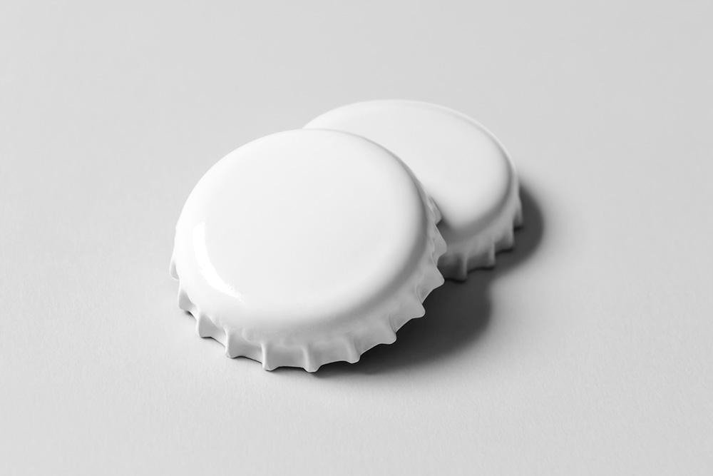 啤酒瓶盖玻璃瓶盖psd智能贴图效果图玻璃汽水瓶盖mockup模板