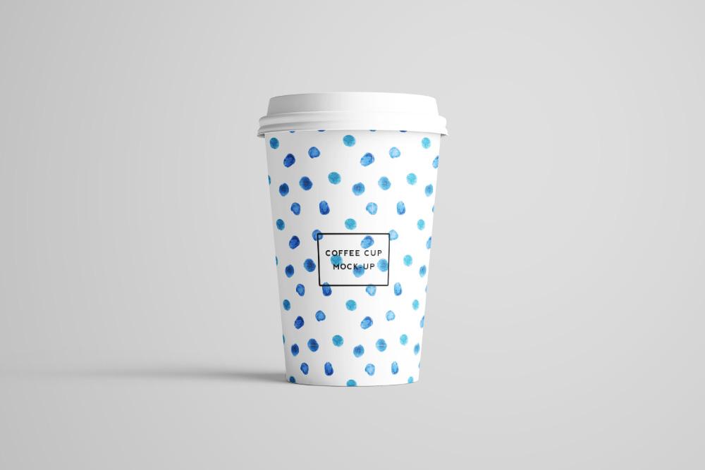一次性热饮杯效果图外带咖啡杯样机奶茶纸杯PSD模板