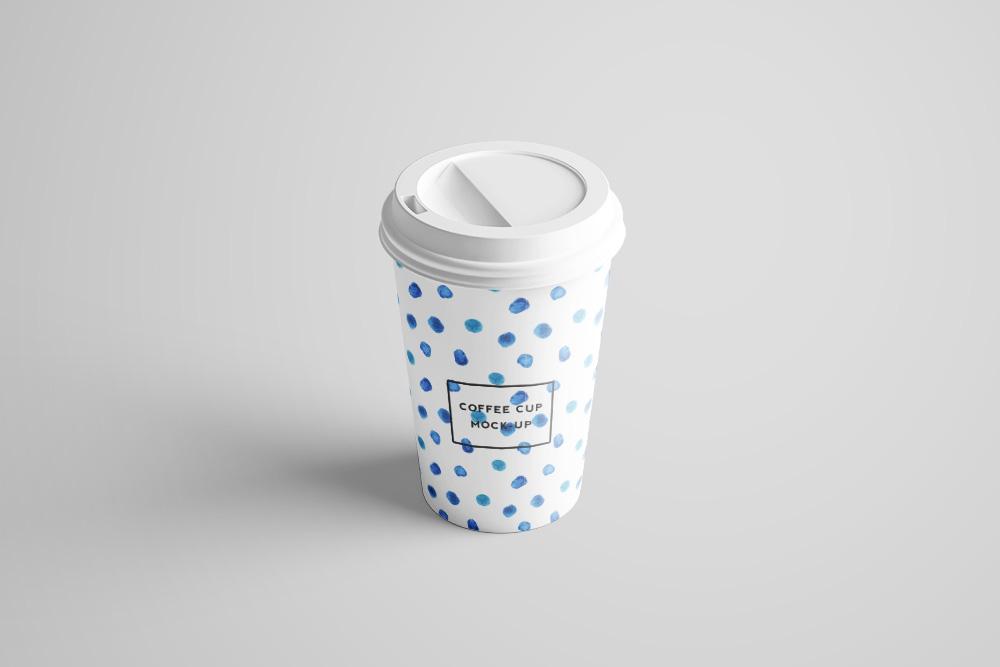 热饮杯效果图外带一次性咖啡杯样机奶茶纸杯PSD模板