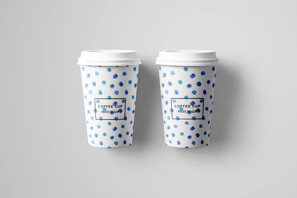 奶茶纸杯PSD模板热饮杯效果图外带一次性咖啡杯样机