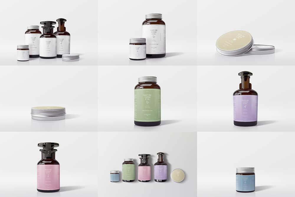 精油瓶样机效果图化妆品护肤品香薰瓶PSD模板样机