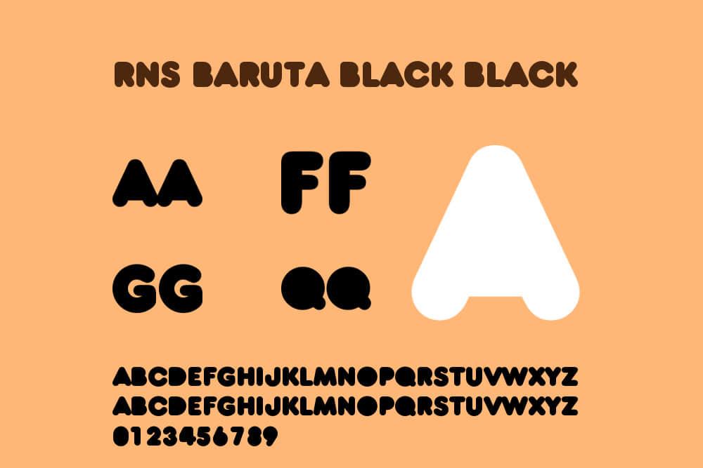 英文字体RNS Baruta Black免费下载Kickstarter Logo字体品牌字体