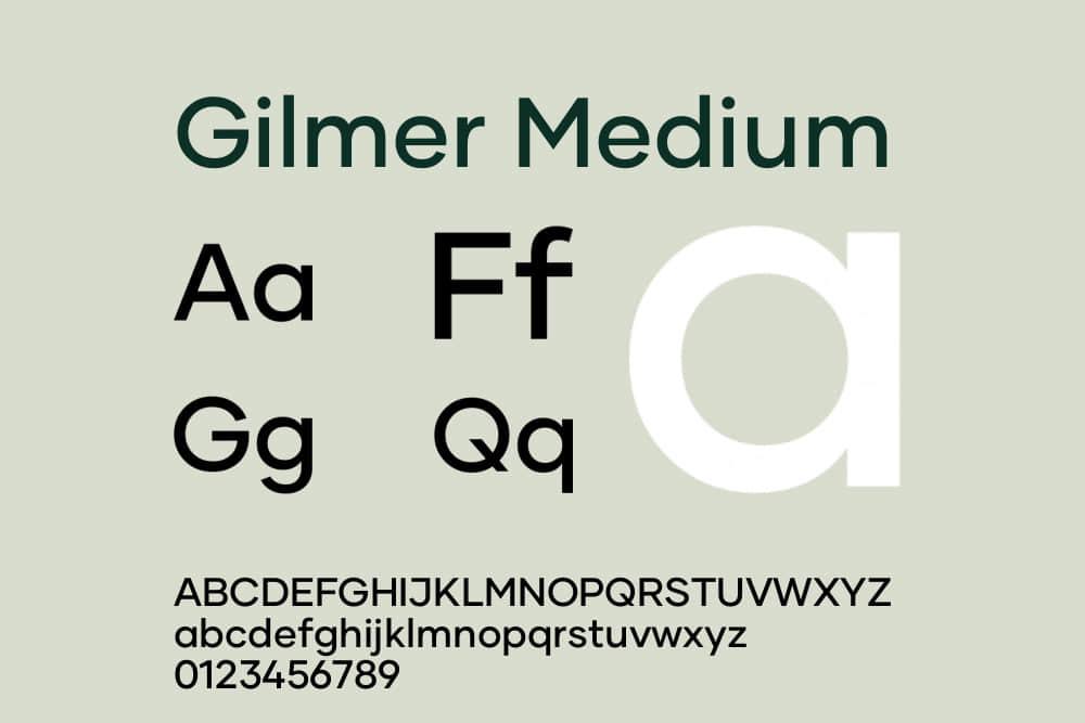 商业英文字体Gilmer字体家族4种字重Gilmerx系列字体