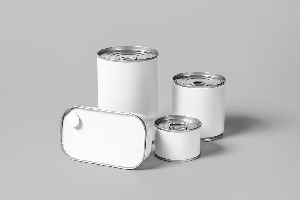 各种罐头样机包装PSD模板宠物零食罐头样机水果罐头Mockup鱼罐头样机