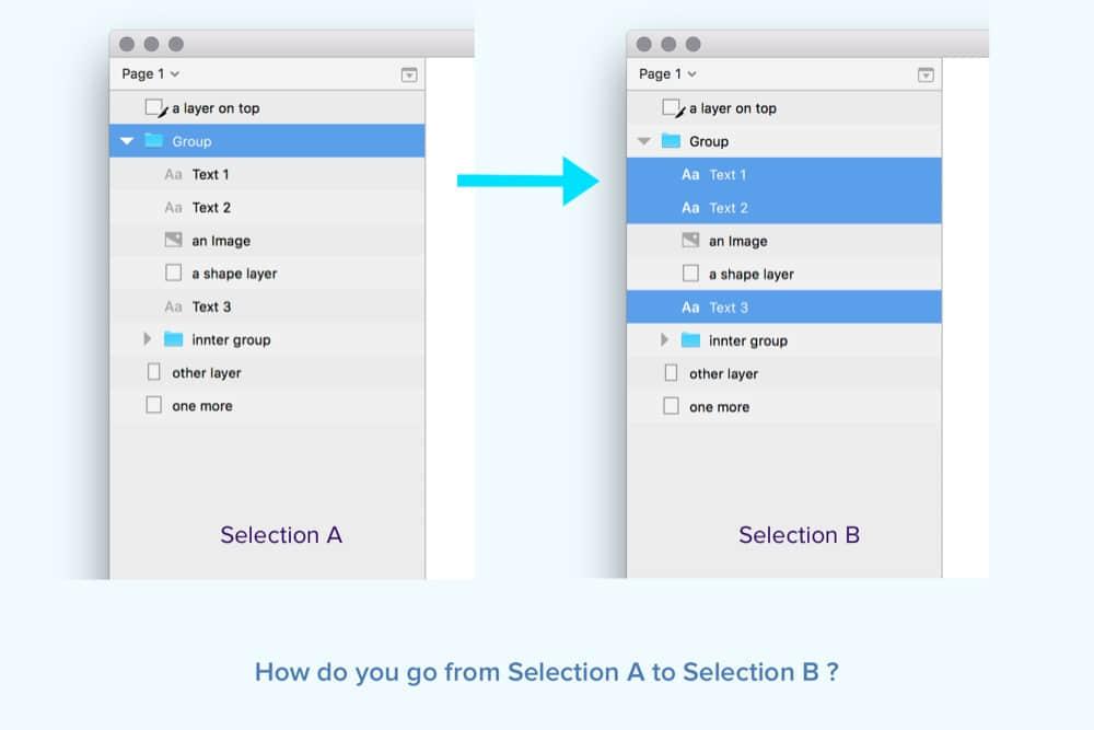 DeepSelect 快速按图层类型过滤选择组内图层的Sketch插件