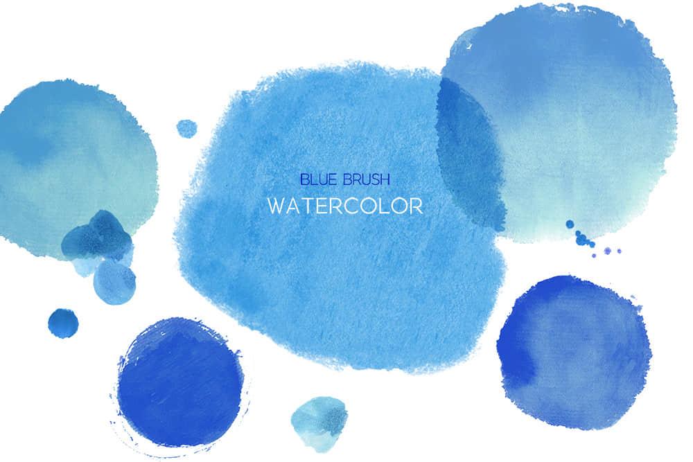 蓝色墨点水彩纹理墨晕水墨