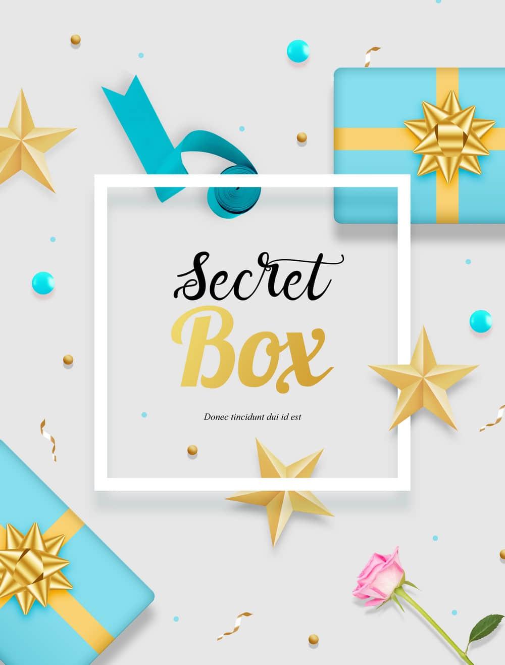 节假日促销礼物盒送礼奖品海报促销惊喜礼物