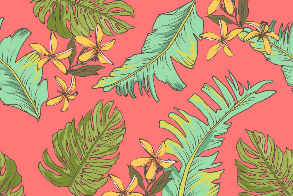 热带植物ins风格设计素材图案背景矢量背景